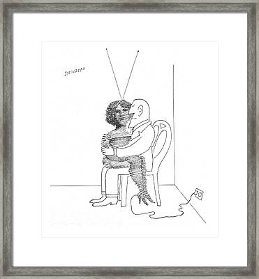 New Yorker September 7th, 1968 Framed Print by Saul Steinberg