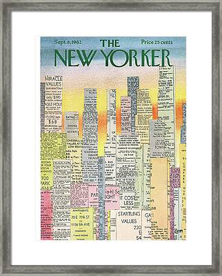 New Yorker September 8th, 1962 Framed Print