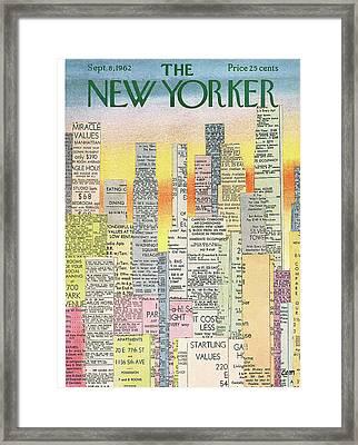 New Yorker September 8th, 1962 Framed Print by Charles E. Martin