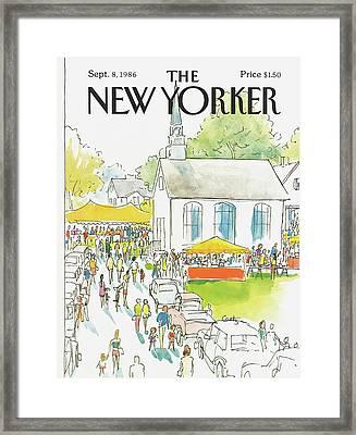 New Yorker September 8th, 1986 Framed Print by Arthur Getz