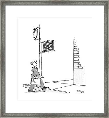 New Yorker September 8th, 1986 Framed Print by Jack Ziegler