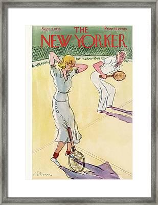 New Yorker September 9th, 1933 Framed Print by Alice Harvey