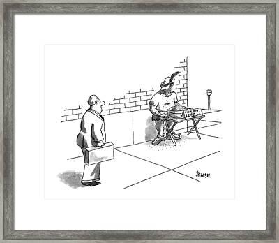 New Yorker September 9th, 1996 Framed Print by Jack Ziegler