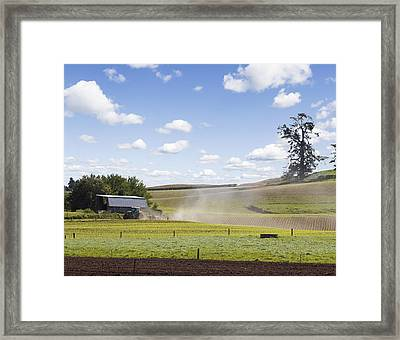 New Zealand Farming Framed Print by Les Cunliffe