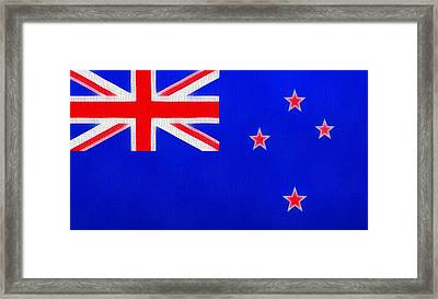 New Zealand Flag On Canvas Framed Print by Dan Sproul