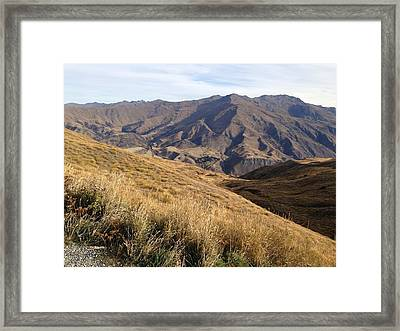New Zealand Mountains Framed Print by Ron Torborg