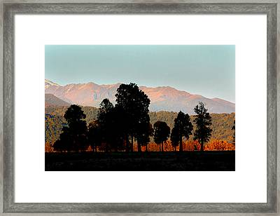 Framed Print featuring the photograph New Zealand Silhouette by Amanda Stadther
