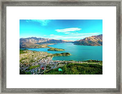 New Zealand, South Island, View Towards Framed Print
