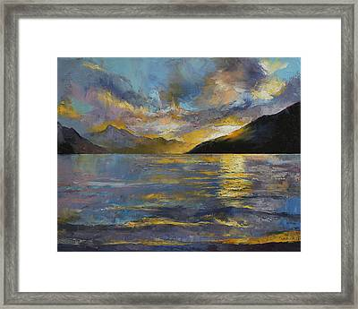 New Zealand Sunset Framed Print by Michael Creese