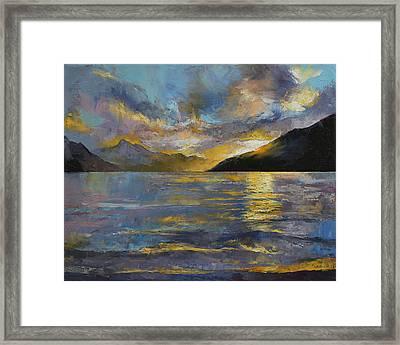 New Zealand Sunset Framed Print