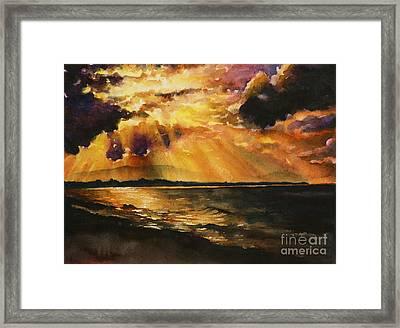 New Zealand Sunset Framed Print by Ryan Fox