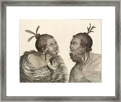 New Zealand War Dance, 18th Century Framed Print