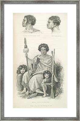 New Zealanders Framed Print by British Library