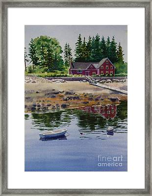 Framed Print featuring the painting Newagen Dingy by Karol Wyckoff