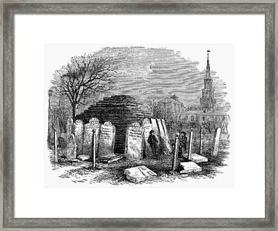 Newark Cemetery, 1876 Framed Print by Granger