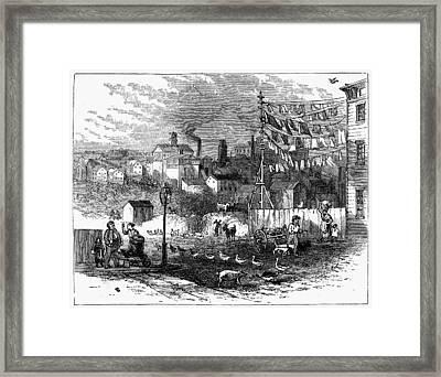 Newark Germantown, 1876 Framed Print
