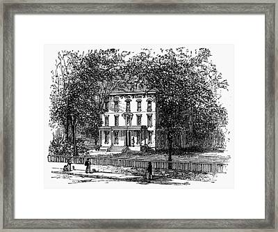 Newark Mansion, 1876 Framed Print by Granger