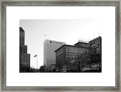 Newark  New Jersey In Black And White Framed Print by Paul Ward