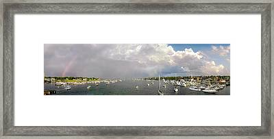 Newburyport Harbor 2007 Framed Print by John Brown