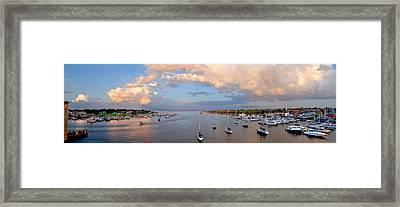 Newburyport Harbor 2010 Framed Print