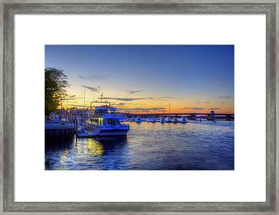 Newburyport Harbor Marina Framed Print