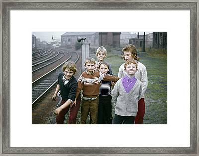 Newcastle Lads Uk 1975 Framed Print by David Davies