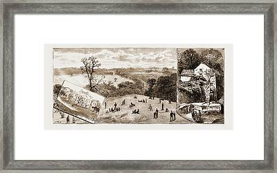 Newcastle, Uk, 1881 Elswick Park, Sculpture Gallery Framed Print