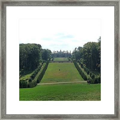 #newengland #architecture #estate Framed Print