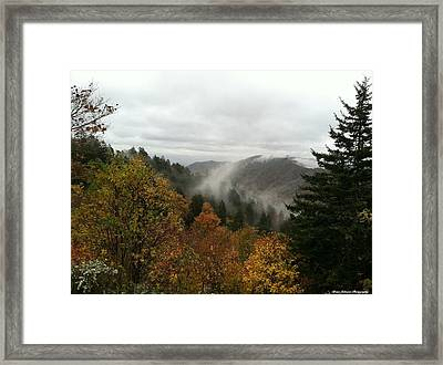 Framed Print featuring the photograph Newfound Gap Overlook Tennessee by Brian Johnson