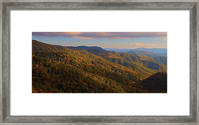 Newfound Gap Road In Autumn Framed Print by Dan Sproul