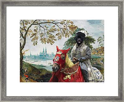 Newfoundland Art - Pasague With Duke Framed Print