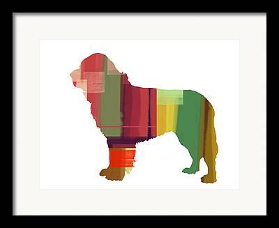 Newfoundland Puppy Framed Prints