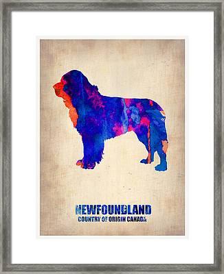 Newfoundland Poster Framed Print by Naxart Studio
