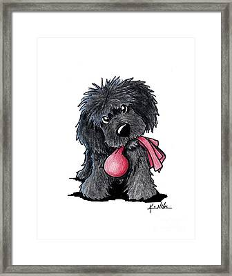 Newfoundland Puppy Framed Print by Kim Niles