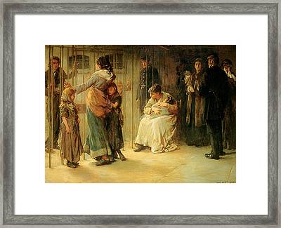 Newgate Committed For Trial, 1878 Framed Print