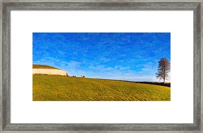 Newgrange - Ancient Observatory In Ireland Framed Print by Mark E Tisdale