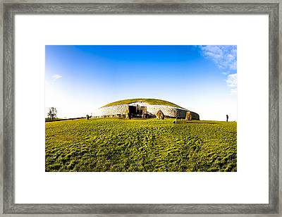 Newgrange - Mystery Of The Irish Boyne Valley  Framed Print by Mark E Tisdale