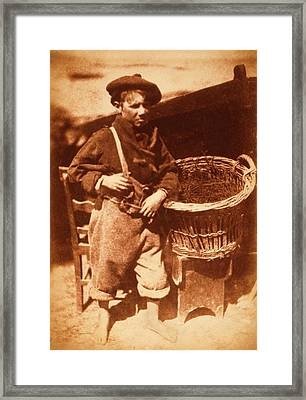 Newhaven Fisherboy Framed Print by Library Of Congress