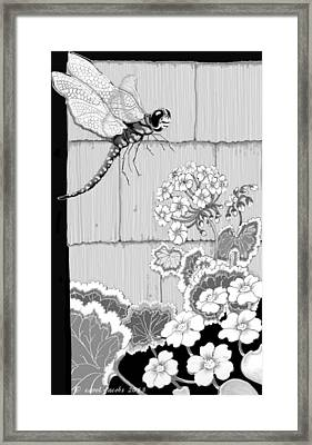 Framed Print featuring the digital art Newly Emerged by Carol Jacobs