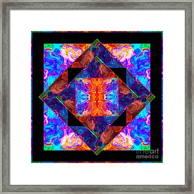 Newly Formed Bliss Mandala Artwork Framed Print