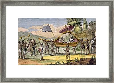 Newly Married Couple Being Taken Framed Print by Pierre Sonnerat