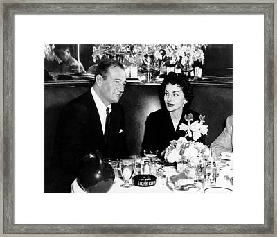Newlyweds John Wayne, Left Framed Print by Everett