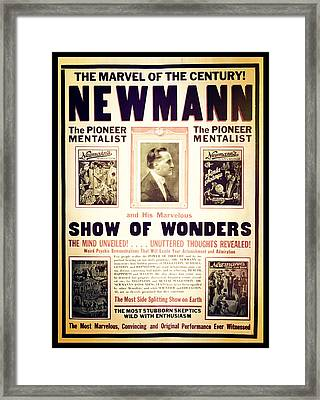 Newmann And His Show Of Wonders  Framed Print by Jennifer Rondinelli Reilly - Fine Art Photography