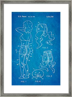 Newmar Pantyhose Patent Art 2 1975 Blueprint Framed Print by Ian Monk