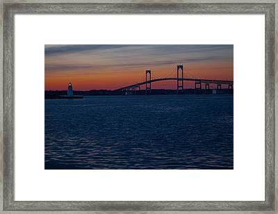 Newport At Sunset Framed Print by Robert  Torkomian