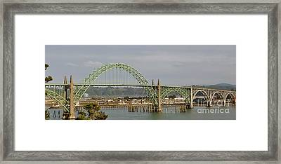 Newport Bay Bridge Framed Print by Susan Garren