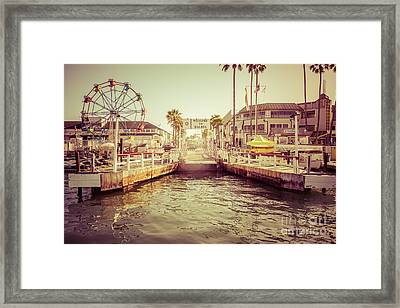 Newport Beach Balboa Island Ferry Dock Photo Framed Print
