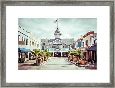 Newport Beach Balboa Main Street Vintage Picture Framed Print by Paul Velgos