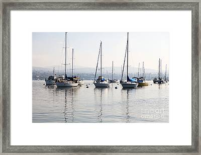 Newport Beach Bay Harbor California Framed Print