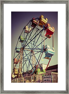 Newport Beach Ferris Wheel In Balboa Fun Zone Photo Framed Print by Paul Velgos